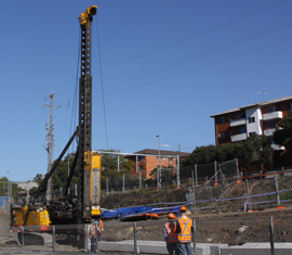 Building and ground vibration - piling